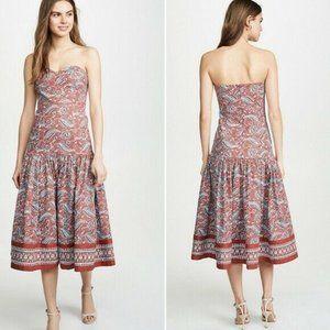 VERONICA BEARD Fiore Paisley Strapless Dress NWOT
